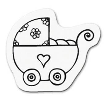 Штамп акриловый Детская коляска, размер: 5*6 см Knorr Prandell Heyda 2118831027