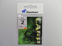 Крючек Hayabusa K-1 Black Nickel №2