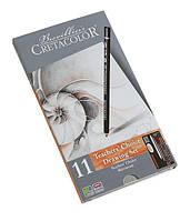 Карандаши CRETACOLOR набор 11 предм в метал кор Teachers choice 40032