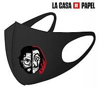 Маска защитная,многоразовая Бумажный дом ( bella ciao ) модный аксесуар