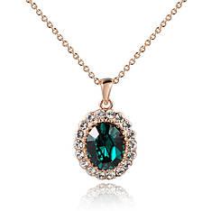 """Колье """"Беспредельная цельность"""" женский стильный кулон позолота кристаллы Сваровски зеленый"""