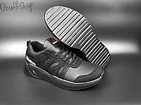 Чоловічі кросівки Reebok Classic Black демісезонні з натуральної шкіри