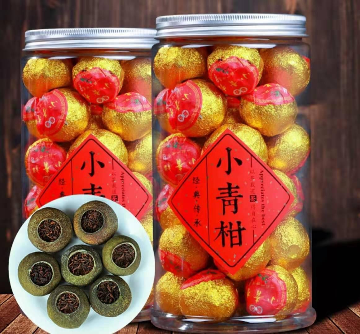 Шу Пуер чорний в Мандарині 1 шт. китайський чай, чай пуер, пуер в фруктах