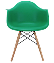 Крісло біле пластикове в сучасному стилі Leon для барів, кафе, ресторанів,стильних квартир, фото 2
