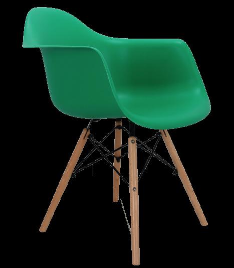 Крісло біле пластикове в сучасному стилі Leon для барів, кафе, ресторанів,стильних квартир