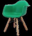 Крісло біле пластикове в сучасному стилі Leon для барів, кафе, ресторанів,стильних квартир, фото 3