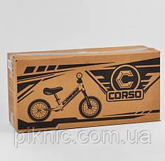 """Велобег Corso """"Skip Jack"""" колеса 12"""" надувные, алюминиевая рама, амортизатор, в коробке. ЧЕРНО-ЗЕЛЕНЫЙ, фото 3"""