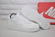 Шкіряні білі кросівки в стилі Nike air force (розміри 37,38,39,40,41 в наявності)