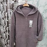 Курточка з вовни альпака з капюшоном, фото 2