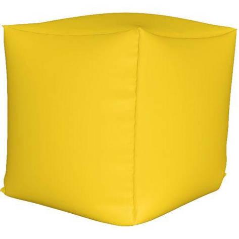 Пуф куб Желтый S - 33х33х33, фото 2
