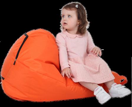Кресло-груша Оранжевая Детская 60х90, фото 2