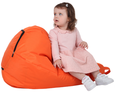 Крісло-груша Помаранчева Дитяча 60х90, фото 2