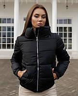 Куртка женская короткая весенняя желтая черная голубая белая кофейная розовая 42 44 46 стильная демисезонная
