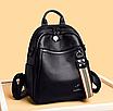 Рюкзак жіночий шкіряний трансформер сумка Hilary Hefan Daishu, фото 4