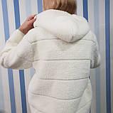 Курточка з вовни альпака з капюшоном, фото 3