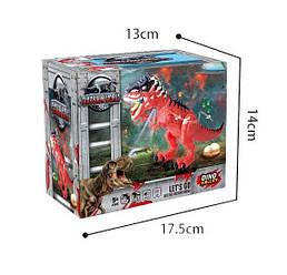 Динозавр 45см, несет яйца, ездит, проектор, звук, свет, 2 цвета, 9789-97