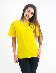 Універсальна футболка вільного крою (жовта)