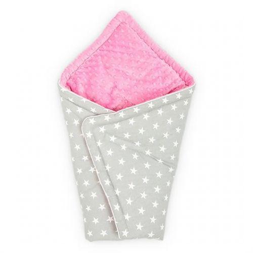 Конверт для новорожденного Серый с Розовым