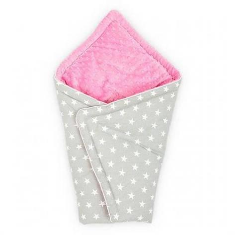 Конверт для новорожденного Серый с Розовым, фото 2