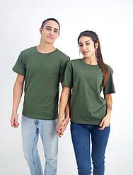 Універсальна футболка вільного крою (хакі)