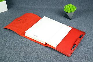 """Обложка для блокнота А5 """"Модель № 3"""", Кожа Итальянский краст, цвет Красный, фото 2"""