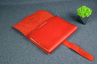 """Обложка для блокнота А5 """"Модель № 3"""", Кожа Итальянский краст, цвет Красный, фото 3"""