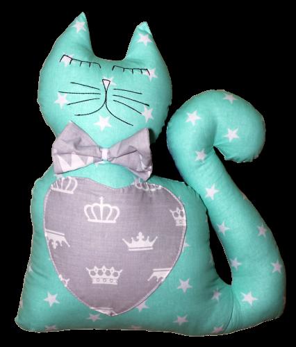 Подушка Хатка Кіт М'ятний з Сірим