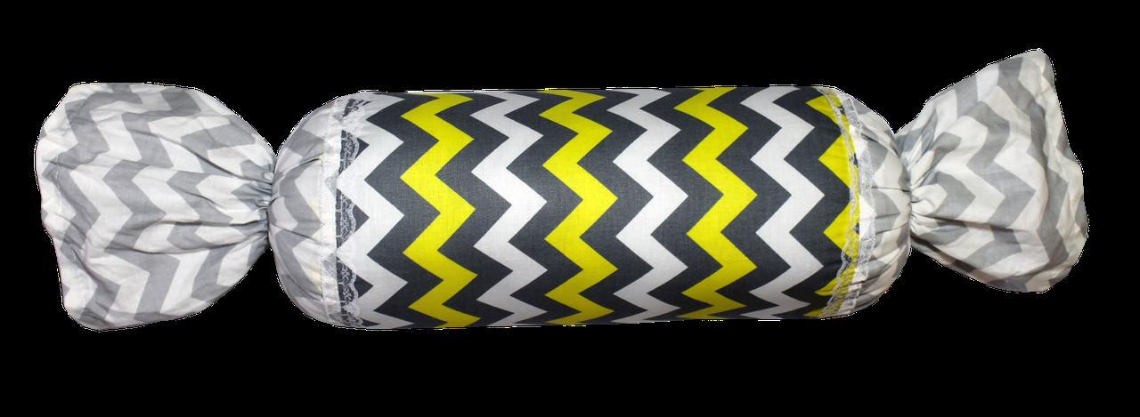 Подушка Хатка Цукерка Єгипет Сіра з жовтим