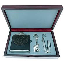 Подарочный набор с флягой GW-8 (фляга YG05-1027A, брелок KA-0353, плоскогубцы)