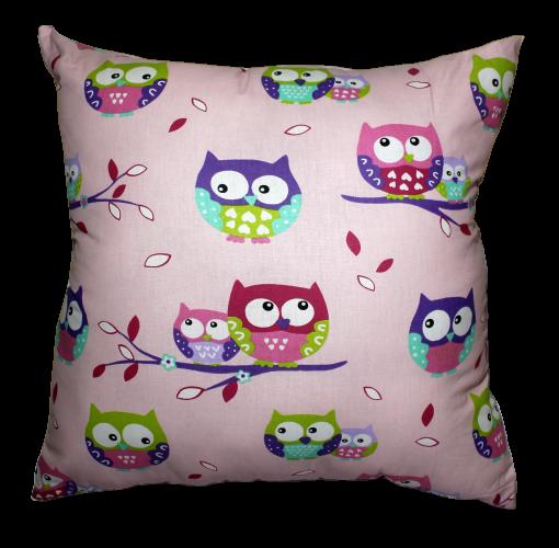 Подушка Хатка Квадратная Фиолетовые совы