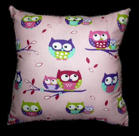 Подушка Хатка Квадратная Фиолетовые совы, фото 2