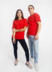 Універсальна футболка вільного крою (червона)