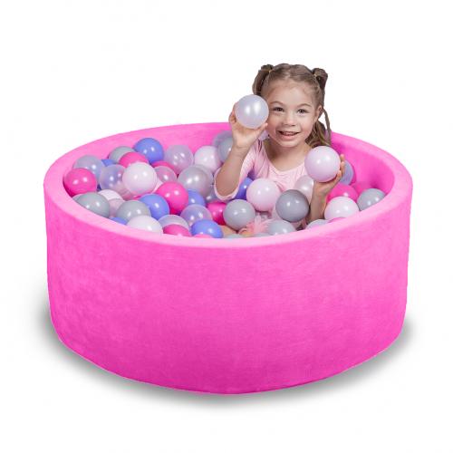 Бассейн для дома сухой, детский, розовый 80 см