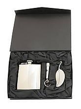 Подарочный набор с флягой HP1406YB-10 (фляга 1406YB-10, фонарик, ножик туристический)