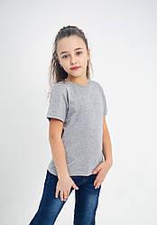 Дитяча однотонна футболка вільного крою (меланж)