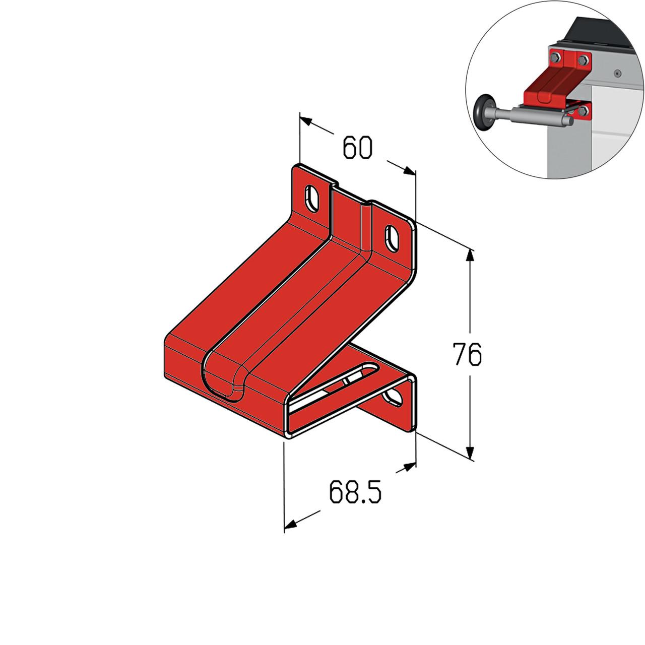 Кронштейн роликовий верхній Alutech RBI-40.127