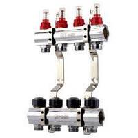 """Колектор з витратомірами для теплої підлоги 1х3/4"""" KRV09 Fado FLOOR"""