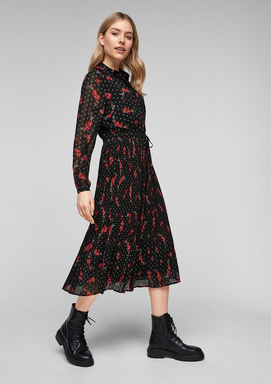 Платье S.Oliver 2053292 XS Чёрный с красным