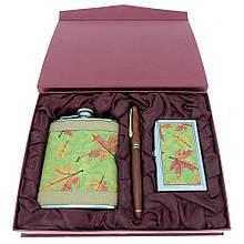 Подарочный набор с флягой ND-9 (фляга, визитница, ручка)