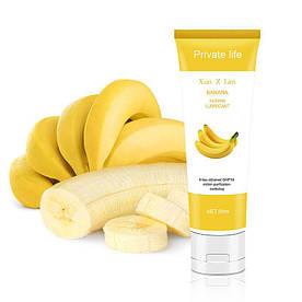 Смазка лубрикант на водной основе 30гр для анального вагинального орального секса с ароматом банана