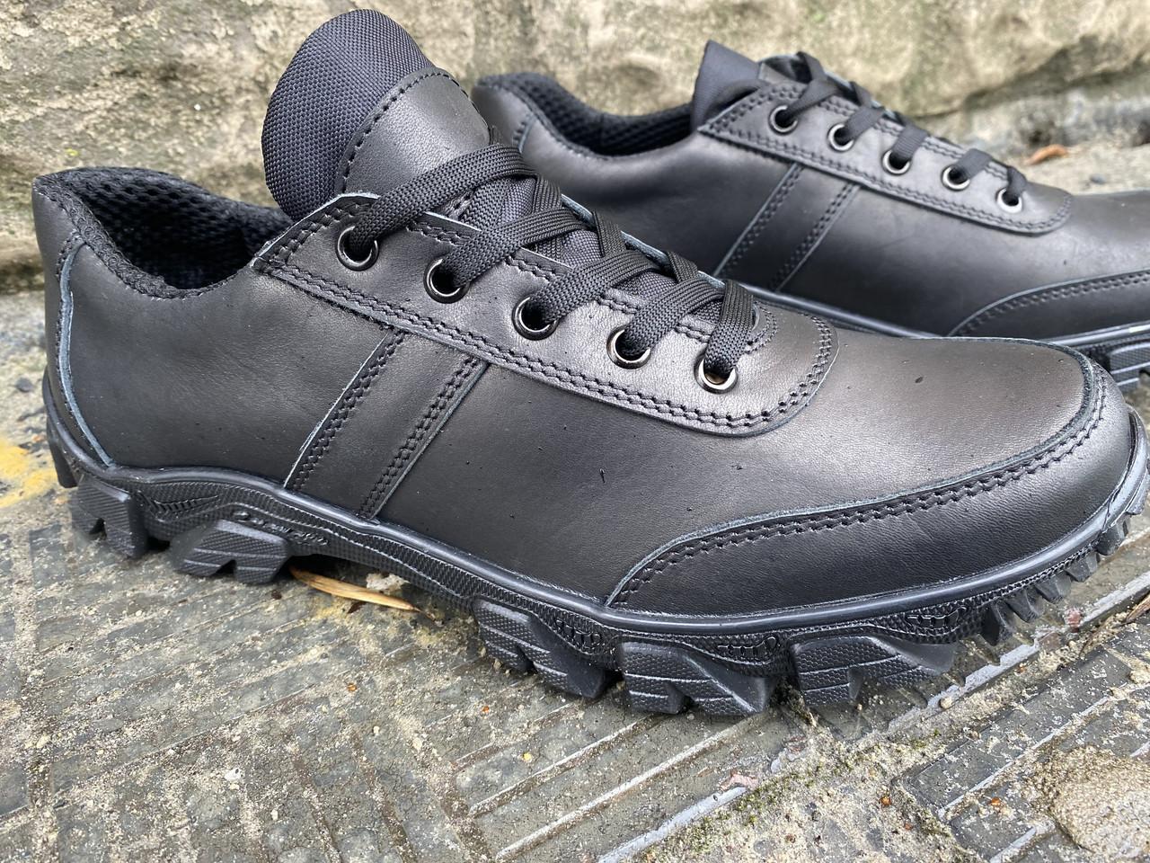 Тактические кроссовки из натуральной кожи ДК крос черный