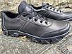 Тактические кроссовки из натуральной кожи ДК крос черный, фото 4