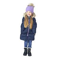 Зимнее термо пальто 2-14 лет (92-158 см) NANO длинная куртка для девочки, синий ТМ Nanö F20M1252 NavyBlue, фото 1