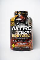Muscletech, Nitro Tech, 100% Whey Gold, сывороточный протеин в порошке, двойной шоколад, 2,51 кг (5,54 фунта)