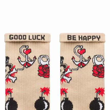 """Шкарпетки Дід Носкарь чоловічі 41-45 """"Old School Tattoo"""" бежеві, фото 2"""