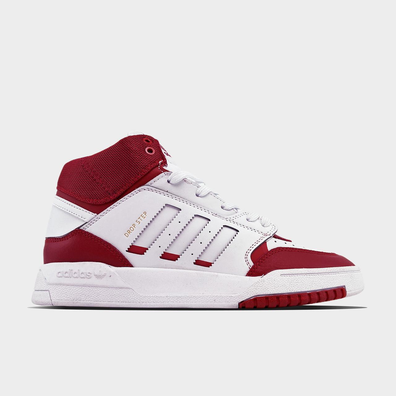 Ad!id@s, крос, обувь, взуття, sneakers, шузы, Drop Step Red White (Белый Красный)
