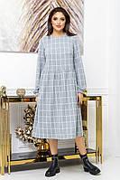 Молодіжне плаття з рубашечным коміром і довгим рукавом