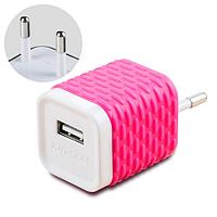 Сетевое зарядное устройство Joyroom WY-002 Розовое