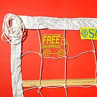 Волейбольная сетка «ЭКОНОМ 15 НОРМА» сетка для волейбола белая для улицы, для зала, любительская