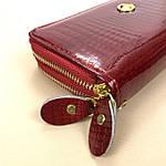 Лаковий гаманець жіночий зі штучної шкіри на дві блискавки Shen Duo (88-1), фото 7